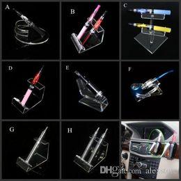 Tubazioni acriliche trasparenti online-Acrilico e cig display trasparente supporto per mensola astuccio scatola vape rack per auto vapor evod batteria e tubo ecig mech mod vaporizzatore meccanico
