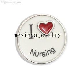 Wholesale Min Order 15 - Wholesale-10pcs i love nursing floating charms for glass locket,FC-263.Min amount $15 per order mixed items