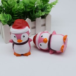 Wholesale Penguin Factory - Factory Christmas Penguin Squishy Penguin Squishy Simulation Food For Key Ring Phone Chain Toys Gifts All Kinds Of Style