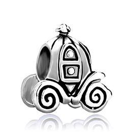 Wholesale silver carriage - Fashion women jewelry metal Jackolantern Halloween Cinderella Pumpkin Carriage European spacer bead charm fits Pandora bracelet