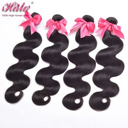 Wholesale Remi Body Wave - Brazillian Body Wave Bundles 3 4 Pcs Lot Unprocessed Remi Weave Brizalian Human Hair Mix Order Acceptable Dyeable Wholesale Brazilian Hair