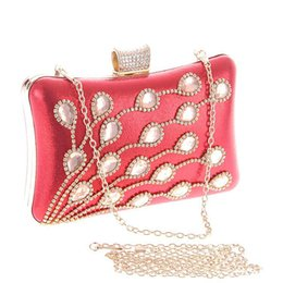 Wholesale Clutch Bag Stones - Fashion Elegant Crystal With Glass Stone Banquet Bags Many Colors Women Dinner Evening Bags Hand Bag
