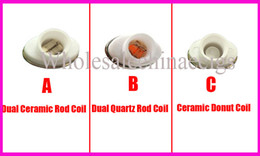 Wholesale Elips Clearomizer - Full Ceramic wax double coil atomizer dual heating coil clearomizer ceramic donut coil for micro gpen Elips pen quartz double coil atomizer