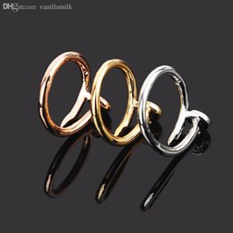"Wholesale Bands Nail Fine - Wholesale-JZ012 HOT Fine copper Screw nail Finger Ring Fashion star models of style Korean drama ""You come from the stars"