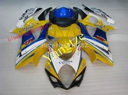 Carenado k7 azul online-Top rated FAIRING KIT cuerpo 1000 07 08 GSX R 1000 2007 2008 GSX R1000 K7 AMARILLO azul carenados de la motocicleta para SUZUKI GSXR