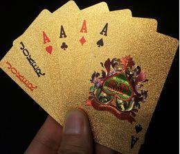 Wholesale Pvc Foil - Gold foil plastic poker poker poker PVC matte gold creative nouveau riche