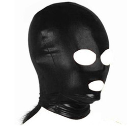 Wholesale Spandex Bondage Hood - Cheap Audlt Games Spandex Dew Nasal Mouth Slave Head Hood Man And Wife Sex Product Toys BDSM sex game Hoods ,Bondage Hoods
