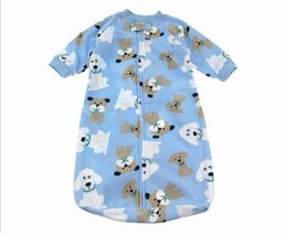 Wholesale Infant Polar Fleece Clothing - 1 PCS Retail Newborn baby Sleeping Bag Polar Fleece infant Clothes style sleeping bags Long-sleeved Romper for 0-9M CX