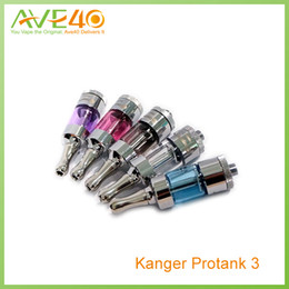 Wholesale Dhl Free Shipping Kanger Tank - Kanger Protank 3 Dual Coil BDC Atomizer Tanks Electronic Cigarette Atomizer 510 Thread Stainless Steel Drip Free Shipping From by DHL AVE40