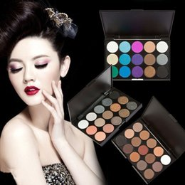 Wholesale Different Size Women - 3 Different New fashion 15 Earth Colors Matte Pigment Eyeshadow Palette Cosmetic 500 pcs Makeup Eye Shadow for women free shipping DHL 6850