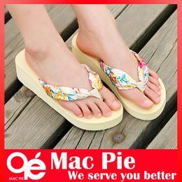 Wholesale Drag Platform Slippers - 2014 summer fashion sexy flip flops sandal slippers flip platform bohemia beach Muffin Slope with female drag women sandals
