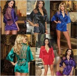 Wholesale Short Nightgowns For Women - 5 Colors Women Lace Nightgown Women's Nightwear Sexy Sleepwear for Women Lace Sleepshirts Sexy Nightgowns Sleeping Dress CCA7954 30pcs