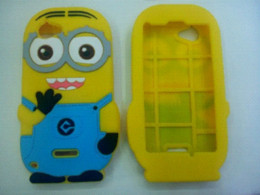 Wholesale Xperia L White Case - New Small Yellow People Despicable Me Minions 3D Cute Soft Rubber Silicone Phone Cases Skin Back Covers For Sony Xperia L S36h