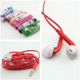 Wholesale Mic Integrated - S6 S6 EDGE earbuds HEADSET integrated microphone Stereo samsung Earphones with mic volume control For Galaxy S4 S5 S6 Note 4 with box