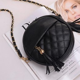 Wholesale Hobo Girls Women - New Candy color tassel chain small bags girls messenger bag leather crossbody bags handbags