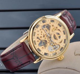Wholesale Mce Watches - Wholesale fashion watches MCE mechanical men's Leather strap watches luxury watches trade 01-0060038