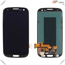 Wholesale Original Galaxy S3 Lcd Black - Factory 100% original LCD For Samsung Galaxy S3 With Touch screen+ Assembly White or Blue or black or white Color free shipping