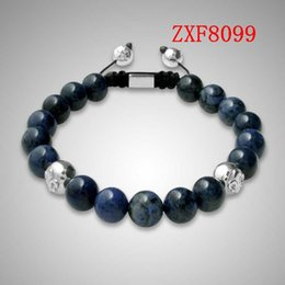 Wholesale Shamballa Bracelet White Black - shamballa natural stone beads hand made fashion bracelets nialaya bracelet whosale ZXF8099