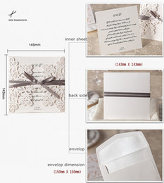 Wholesale Sale Wedding Invitation Card - 2015 Hot Sale 50 Pcs Lot White Hollow Flowers Wedding Invitation Card with Envelopes Wedding Favors Printable Cards