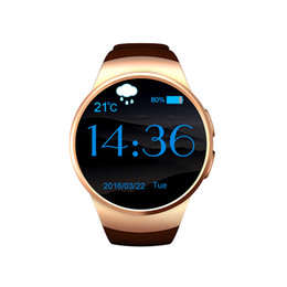 Wholesale Anti Clock - KW18 Smart Bluetooth Watch Fully Rounded Android IOS Reloj Inteligente SIM Card Heart Rate Monitor Watch Clock Mic Anti lost