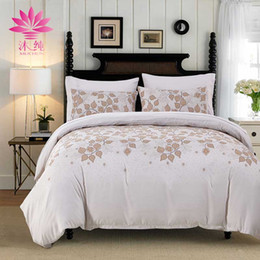 Wholesale Country Comforters - muchun Brand Bedding Sets 3 pcs Comforter Duvet Cover Pure Color Flower Pattern Home Textiles Drop Shipping Bed sets