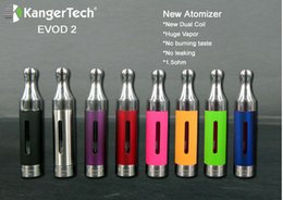 Wholesale Dhl Free Shipping Evod Tank - cheapest kanger evod 2 tank atomizer dual coils unit 5pc pack 3.0ml capacity with dhl free shipping