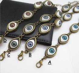 Wholesale Tungsten Beads Cheap - Drop shipping Friendship woven bracelets,cheap leather bracelets jewellery,horse eye charm bracelets,multi-color china fashion jewelry.HZ