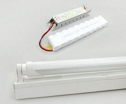 Luzes led tubo de emergência on-line-18W de emergência LED luz lâmpadas T8 recarregável LED tubos de colisão para tubo de 120min + luminária + Battary 25-pack