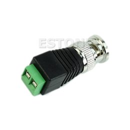Wholesale Balun Tv - Free Shipping 8pcs BNC Male CAT5 CCTV Video Adapter Coaxial Coax Balun Camera TV Connector order<$18no track