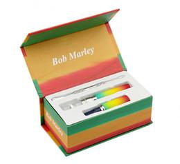 Wholesale Electronic Vapor Pipes - snoop dogg Bob Marley starter e cig herbal dry herb vaporizer vape pen kit kits g electronic cigarette smoking pipe vapor cigs clone