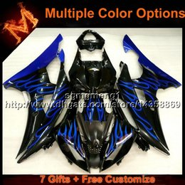 Wholesale Motorcycle Plastic Yamaha R6 - 23colors+8Gifts BLUE motorcycle cowl for Yamaha YZF-R6 2008-2015 YZFR6 2008 2009 2010 2011 2012 2013 2014 2015 ABS Plastic Fairin