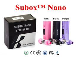 Kangertech subox nano kit de inicio púrpura online-100% Auténtico Kangertech Subox Nano Starter Kit con 3ML Subtank Nano vape Atomizer 50W Kbox nano mini negro rosa púrpura