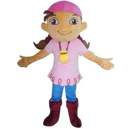 Wholesale Izzy Pirate Costume - Pirate Izzy Mascot Costume Deluxe Fancy Dress Party Celebration Suit Fancytrader