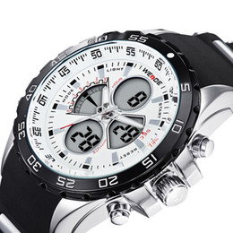 Wholesale Top Brand Divers Watches - High Quality Brand Top Silicone Sport Men Watches Waterproof Quartz Men's Watch Black Casual Wristwatches