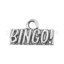 Wholesale Bingo Charms - Wholesale Vintage Alloy Letter Charms BINGO Message Charms 50pcs AAC816