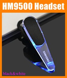 Wholesale Headphone Kit - Led Earphone HM9500 ear hook bluetooth headset Wireless Stereo Headphones with Mic for Samsung handsfree car kit bass HBS900 EAR042