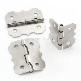 Wholesale Metal Butt - Free Shipping 50 Door Butt Hinges(rotated from 90 degrees to 210 degrees) Silver Tone 4 Holes 24mm x 20mm B01458