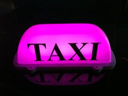 Wholesale Taxi Roof Signs - car Taxi Top Light New LED Roof Taxi Sign 12V with Magnetic Base, pink white optional