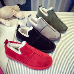 Botas de outono baratas on-line-Barato moda de nova pele feminina ankle boots quentes botas mulheres botas de neve outono inverno mulheres sapatos EUR Tamanho: 35-40