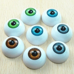 Wholesale Plastic Craft Eyes - 10pcs Acrylic Doll Bear Craft Plastic Eyes Eyeball Half Round 20mm Eyeball Zakka Halloween DIY Eyeball
