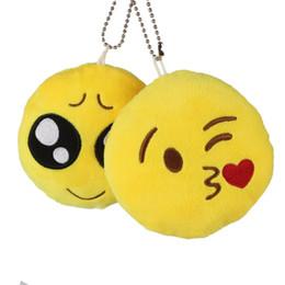 Accessori viso smiley online-Emoji Smiley emozionale 16 Styles Emotion Stampa catena chiave giocattoli giocattolo morbido regalo Samll ciondolo faccia espressione sacchetto accessorio