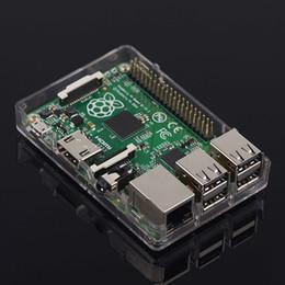 Wholesale Raspberry Box - New Raspberry Pi Model B+ (B Plus) 512MB - Linux Based - Board & Acrylic Case Box Shell Enclosure