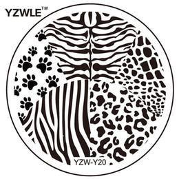 Wholesale fashion design stencils - Wholesale- YZWLE 1 Sheet Fashion Round Flower Design Nail Art Image Stamp Stamping Plates Manicure Template DIY Polish Stencil Nail Tools