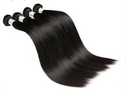 Wholesale Buy Indian Hair - Liang Shuang Indian Straight Human Hair Bundles 100g pc Can Buy 3 or 4 Pcs Non Remy Hair Natural 1B Color Can Be Dyed