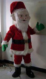 Wholesale Custom Made Free Postage - Santa Claus mascot costume adult Fancy dress free postage to UK US AU CA