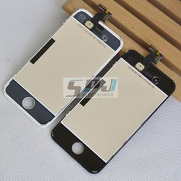 2019 оптовые мелкие детали Wholesale-for  4 4G LCD Display+Touch Screen Digitizer +Frame+camera holder+earphone dust cover+ small parts,White and Black скидка оптовые мелкие детали