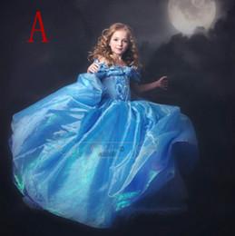 cinderella niños ropa Rebajas 2016 nuevo llegado vestido formal de Cinderella Niños Vestido de verano Vestidos de gasa Ropa de niños Vestido Short Girls Vestidos de fiesta lindo