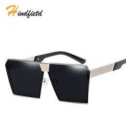 Wholesale Hip Sunglasses - Hindfield High Quality Frame Rectangle Lens Polarized Men Sunglasses Male Driving Sun Glasses Hip Hop Rock Fashion Sunglasses
