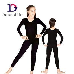 Wholesale Green Spandex Unitard - Free shipping Wholesale Child long sleeve ballet dance unitard C2615 basic gymnastic wear ballet dance wear dancewear ballet dancewear