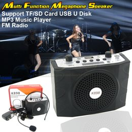 Wholesale Computers Portable Sale - Portable Music Loudspeaker With Microphone Amplifier MP3 Speaker For Computer Mobile Phone Teaching Tour Guide Sales Promotion